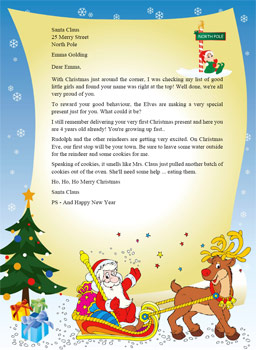 ... letter from santa better yet what about a free personalized letter