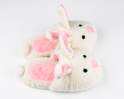 classic white bunny slippers