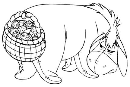 WINNIE THE POOH EasterThemed Images Coloring Sheets and Easter