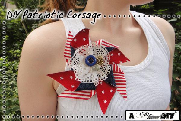 DIY patriotic corsage