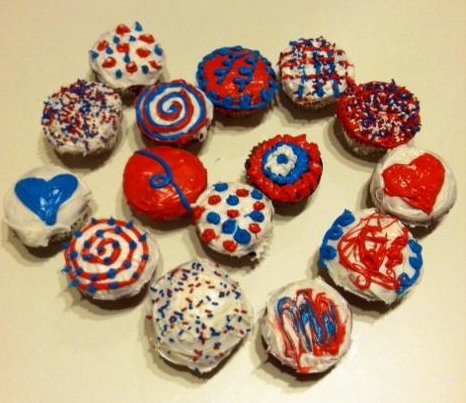 Labor Day Cupcakes