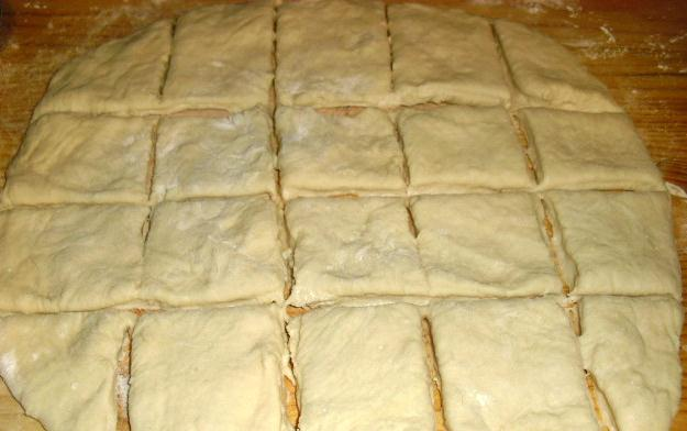 rolled out beignet dough