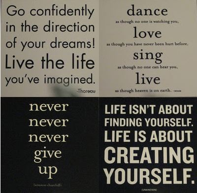Inspirational Quote Collage
