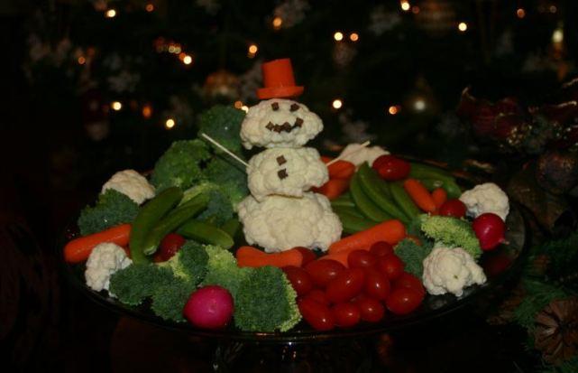 snowman veggie platter unknown