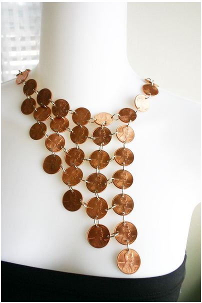 necklace made from pennies