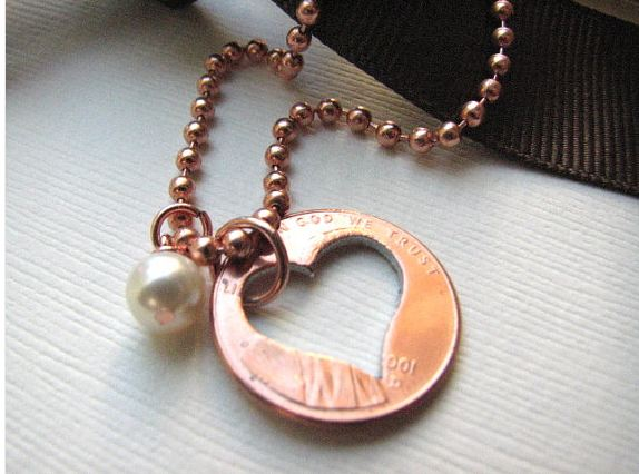 Stamped Penny from Heaven Necklace