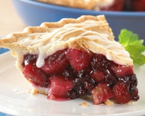 Triple Berry Apple Rhubarb Pie