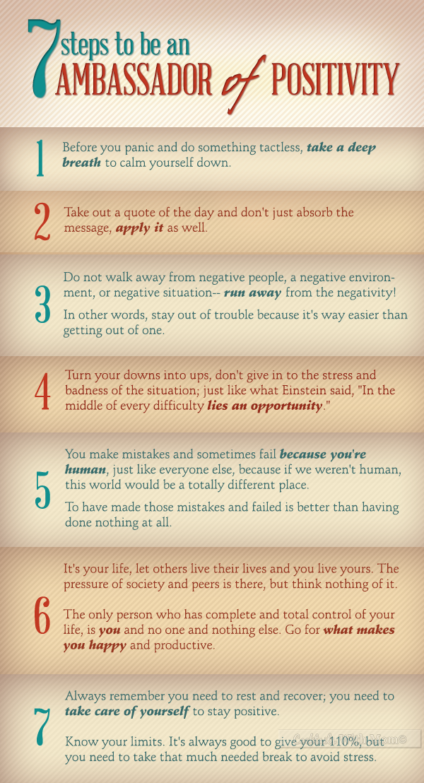7 Steps To Be An Ambassador of Positivity