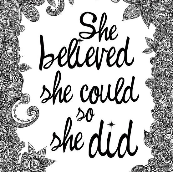Inspirational Quotes:  Believing