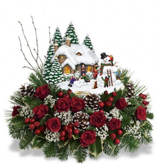 Thomas Kinkade's Winter Wonder Bouquet by Teleflora