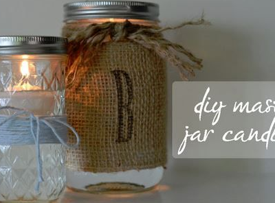 Diy Mason Jar Candles