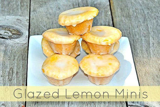 glazed lemon mini cupcakes