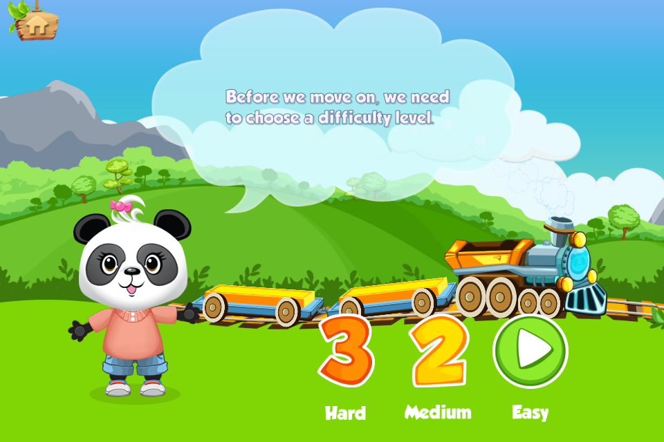 Lola's Math Train 2 is a fun new app that teaches math skills in a fun and comfortable environment with the help of a happy panda.