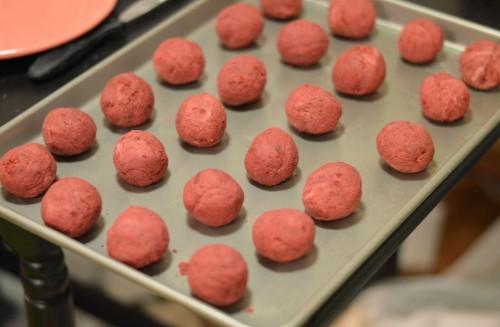 Red Velvet Cake Balls | Cocktails with Mom