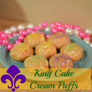 King Cake Cream Puffs
