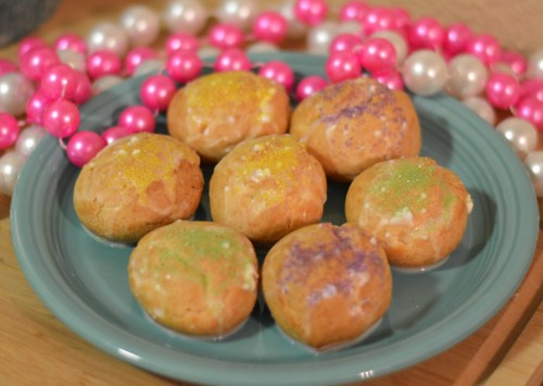King Cake Cream Puffs | Cocktails with Mom