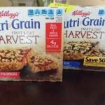Breakfast on  the go with Kellogg's Nutri-Grain Fruit & Oat Harvest bars