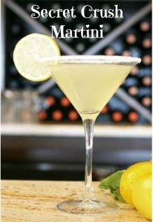 Cocktail Hour:  The Secret Crush Martini
