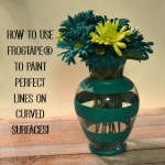How to Use FrogTape® to Paint Perfect Lines on Curved Surfaces!  #FrogTape #ad