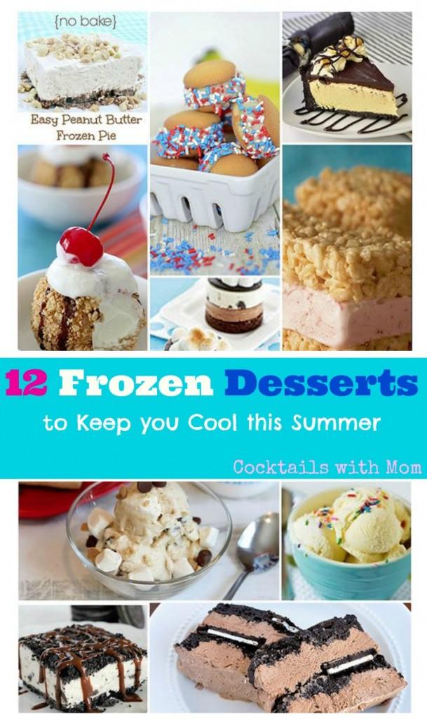 frozen dessert collage