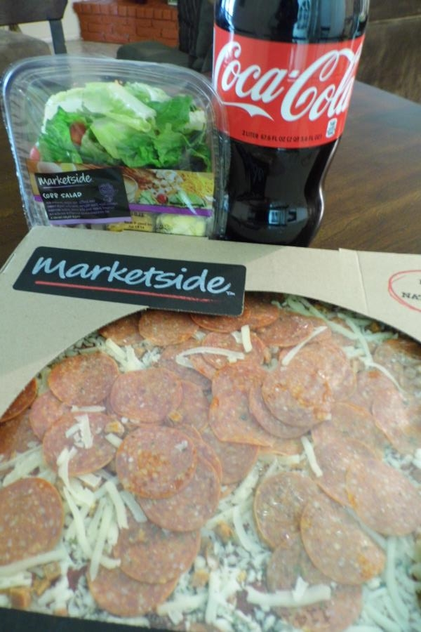 pizza and cola