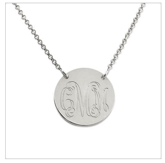 monogram necklace'