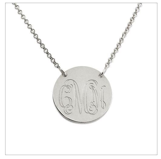 monogram necklace'