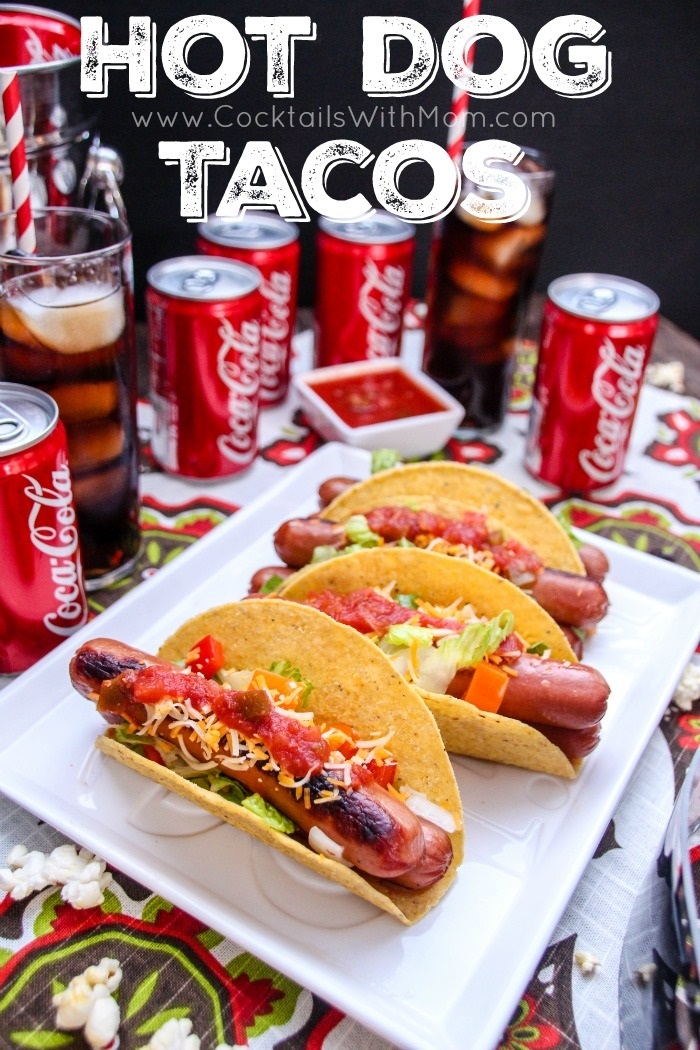 Family-Friendly Movie Night Dinner:  Hot Dog Tacos
