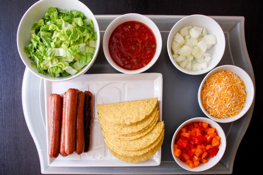 ingredients-hot-dog-tacos-recipe