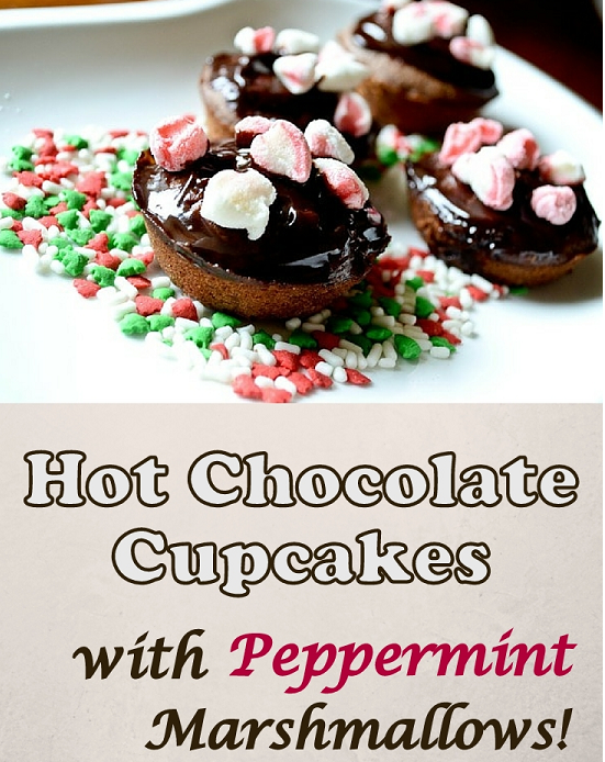Hot chocolate cupcakes with Marshmallow toppings