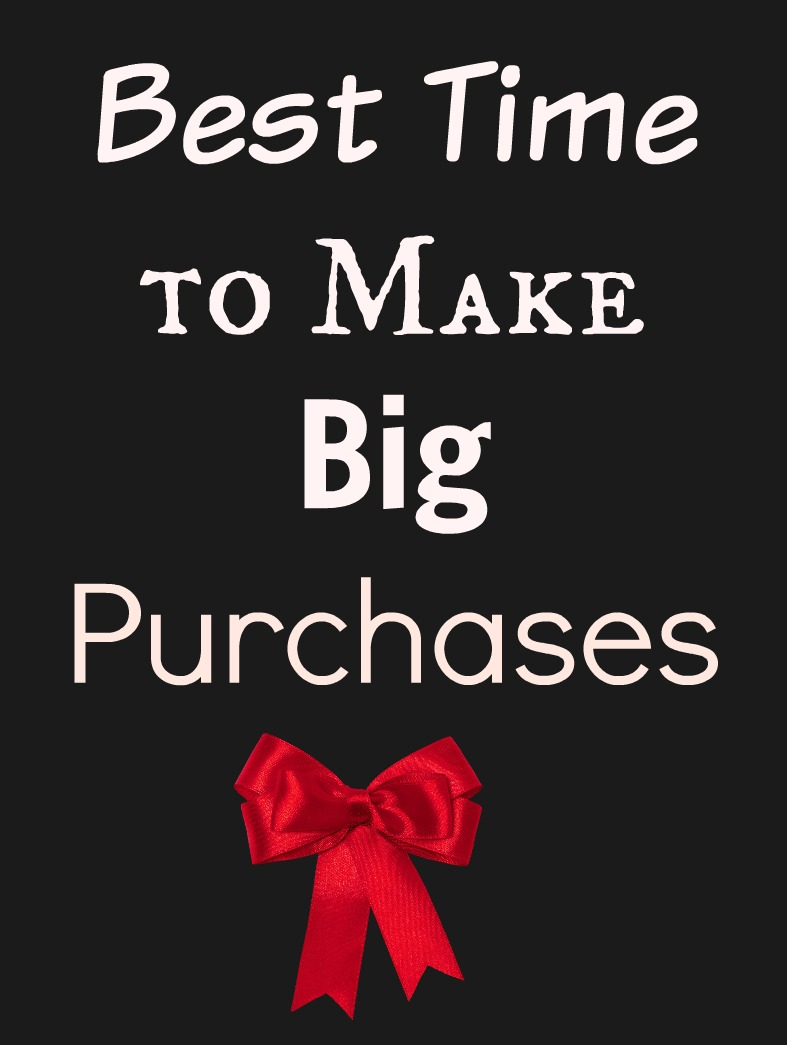 Best Time to Make Big Purchases