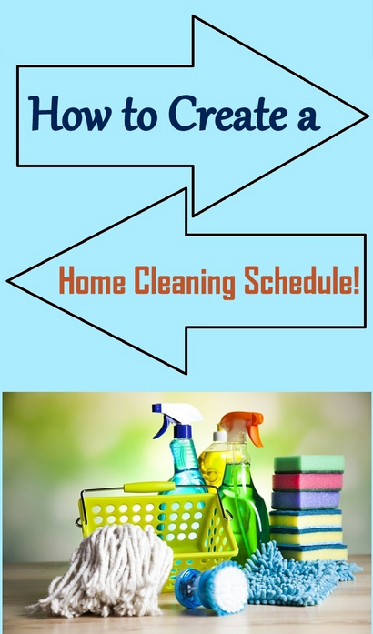 home cleaning schedule