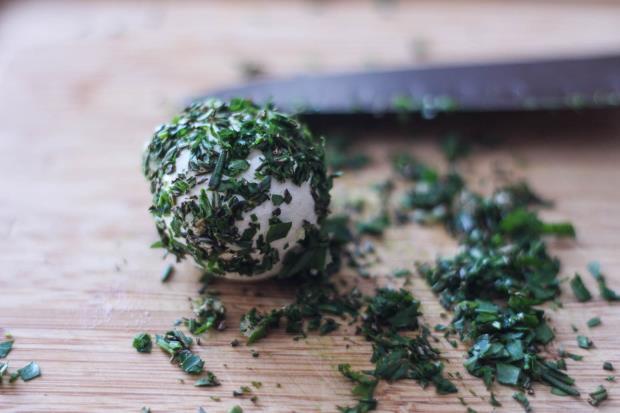 Savory Cheese Balls-process