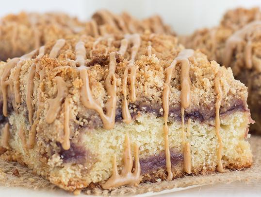 Peanut Butter Jelly Coffee Cake