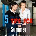 5 Tips for Summer Car Maintenance