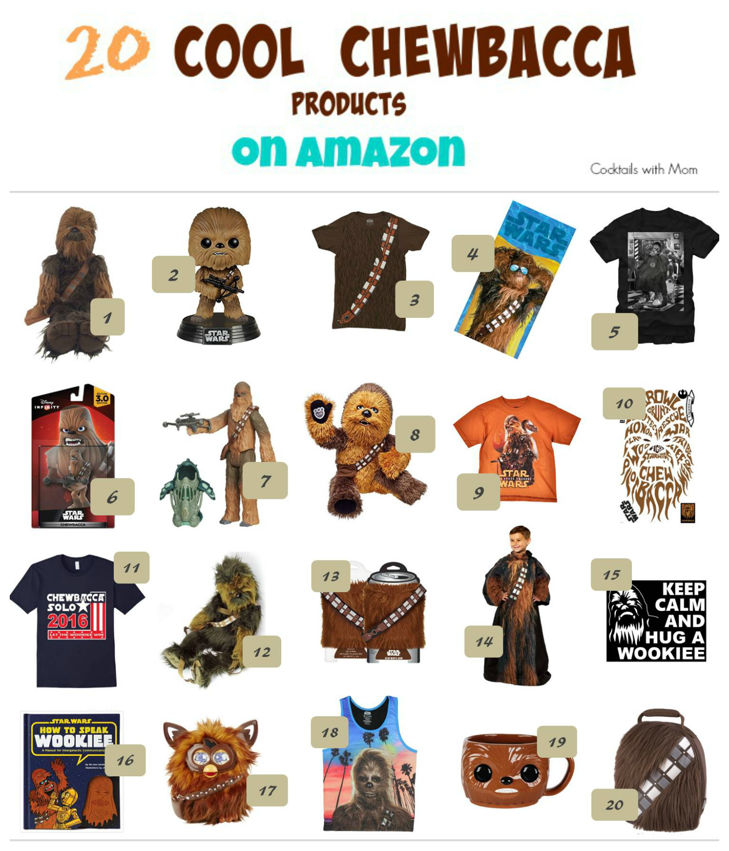 20 Really Cool Chewbacca Products on Amazon