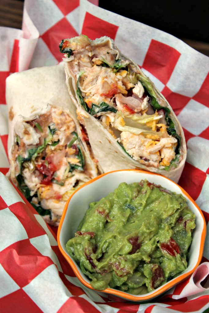 Mexican Grilled Chicken Wrap Sandwich 1