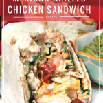 Mexican Grilled Chicken Wrap Sandwich Recipe