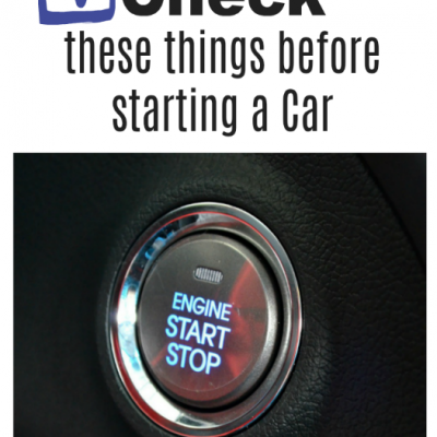 Checklist Before Starting A Car
