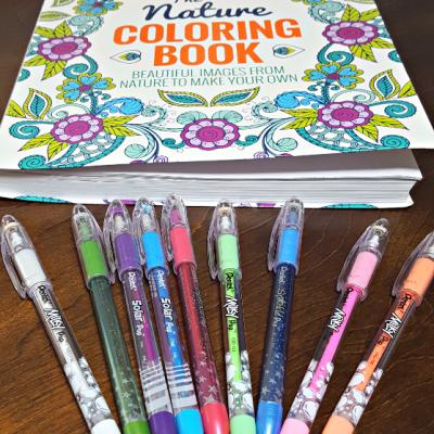 Pentel Gel POP Pens make Coloring Book Pages Pop