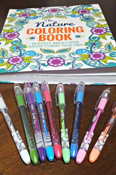 Pentel Gel POP Pens make Coloring Book Pages Pop
